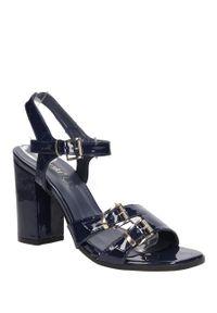 Niebieskie sandały S.Barski na co dzień, na lato, casualowe