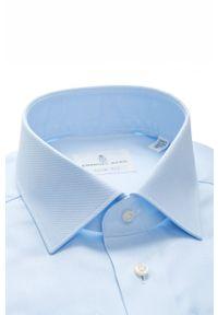 Emanuel Berg - Koszula. Typ kołnierza: kołnierzyk klasyczny. Kolor: niebieski. Materiał: tkanina. Styl: klasyczny