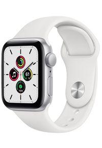 APPLE - Apple smartwatch Watch SE, 40mm Silver Aluminium Case with White Sport Band (MYDM2HC/A). Rodzaj zegarka: smartwatch. Kolor: srebrny. Styl: sportowy