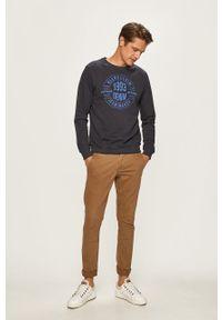 Niebieska bluza nierozpinana Blend z nadrukiem, bez kaptura #5
