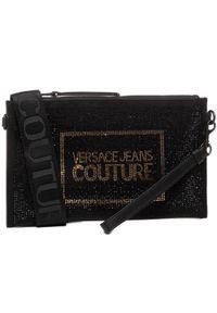 Czarna torebka Versace Jeans Couture z aplikacjami, zdobiona