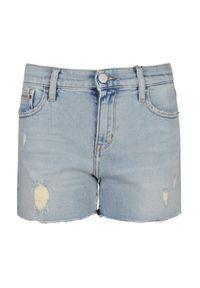 Niebieskie szorty Calvin Klein z aplikacjami
