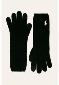 Czarne rękawiczki Polo Ralph Lauren