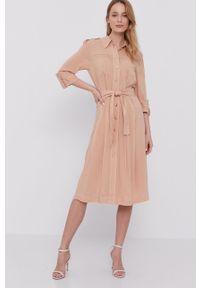 Sukienka Marciano Guess midi, rozkloszowana, gładkie, casualowa