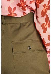 Zielone spodnie materiałowe Vero Moda
