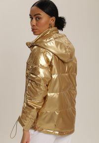Złota kurtka pikowana Renee