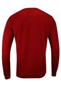Szary sweter MM Classic z dekoltem w kształcie v, do pracy