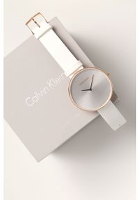 Biały zegarek Calvin Klein