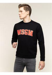MSGM Bluza 2840MM178 207099 99 Czarny Regular Fit. Kolor: czarny