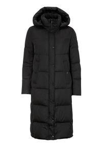 Czarny płaszcz SAKI z aplikacjami