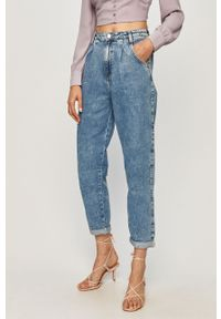 Niebieski jeansy loose fit TALLY WEIJL z podwyższonym stanem
