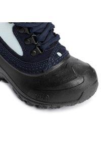 Niebieskie buty zimowe The North Face na spacer, z cholewką