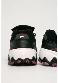 Fioletowe sneakersy Fila na sznurówki, z cholewką, z okrągłym noskiem