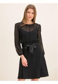 Czarna sukienka koktajlowa iBlues wizytowa