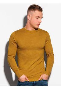 Żółty sweter Ombre Clothing klasyczny #3