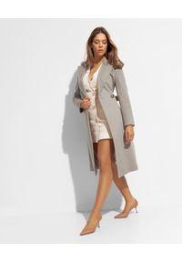 CINZIA ROCCA - Długi beżowy płaszcz z wełny. Kolor: beżowy. Materiał: wełna. Długość: długie