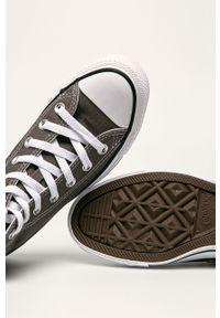 Szare tenisówki Converse z okrągłym noskiem, z cholewką