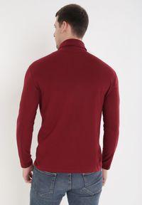 Born2be - Bordowy Golf Ateronis. Okazja: na co dzień. Typ kołnierza: golf. Kolor: czerwony. Materiał: bawełna. Długość rękawa: długi rękaw. Długość: długie. Wzór: jednolity, gładki. Styl: elegancki, casual #6