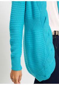 Niebieski sweter bonprix długi
