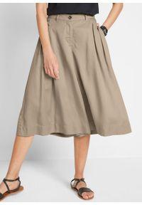 Spodnie culotte z szerokimi nogawkami, TENCEL™ Lyocell bonprix piaskowy. Kolor: beżowy. Materiał: lyocell
