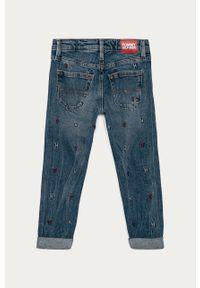 Niebieskie jeansy TOMMY HILFIGER na co dzień, casualowe, z aplikacjami