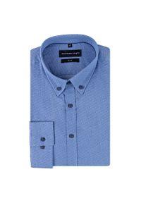 Niebieska koszula Giacomo Conti na spotkanie biznesowe, z długim rękawem