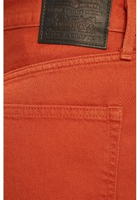 Pomarańczowe jeansy Levi's Made & Crafted z podwyższonym stanem