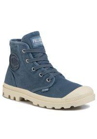 Niebieskie buty trekkingowe Palladium z cholewką