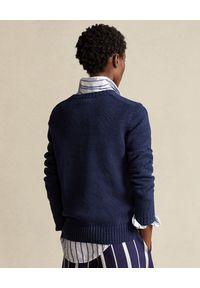 Niebieski sweter Ralph Lauren wakacyjny, polo, na lato