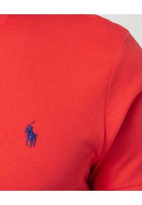 Ralph Lauren - RALPH LAUREN - Czerwona koszulka z haftowanym logo. Typ kołnierza: polo. Kolor: czerwony. Materiał: bawełna. Wzór: haft. Styl: klasyczny
