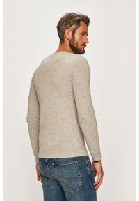 Tom Tailor Denim - Sweter. Okazja: na co dzień. Kolor: szary. Materiał: denim. Wzór: gładki. Styl: casual