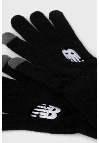 New Balance - Rękawiczki. Kolor: czarny. Materiał: dzianina