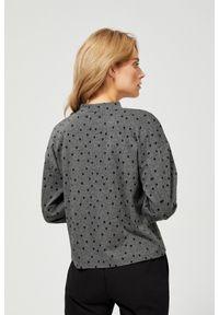 Szara bluza MOODO w grochy, ze stójką