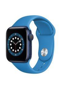 APPLE - Smartwatch Apple Watch 6 GPS+Cellular 40mm aluminium, niebieski |głęboki granat pasek sport. Rodzaj zegarka: smartwatch. Kolor: niebieski. Styl: sportowy