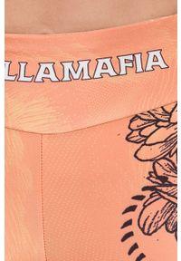LABELLAMAFIA - LaBellaMafia - Legginsy. Kolor: pomarańczowy. Materiał: dzianina
