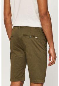 Oliwkowe szorty Pepe Jeans gładkie, na co dzień, casualowe