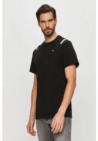 G-Star RAW - G-Star Raw - T-shirt. Kolor: czarny. Materiał: materiał. Wzór: aplikacja