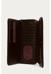 Brązowy portfel Desigual z haftami