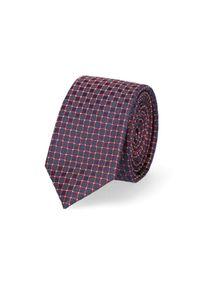 Lancerto - Krawat Mixkolor w Kratę. Materiał: tkanina, mikrofibra. Styl: klasyczny