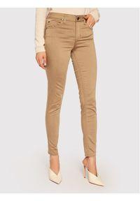 Brązowe jeansy slim Liu Jo