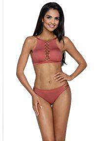Różowy strój kąpielowy dwuczęściowy Lorin