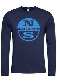 Niebieska koszulka z długim rękawem North Sails