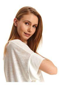Biała bluzka TOP SECRET casualowa, na lato, na co dzień, krótka