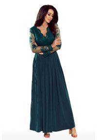 Zielona sukienka wieczorowa Numoco maxi