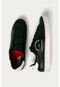 Czarne sneakersy Karl Lagerfeld z cholewką, z okrągłym noskiem