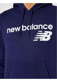 New Balance Bluza C C F Hoodie MT03910 Granatowy Relaxed Fit. Kolor: niebieski