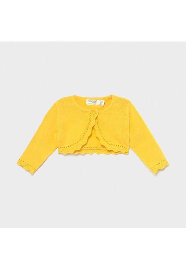 Mayoral Bolerko 318 Żółty Regular Fit. Kolor: żółty