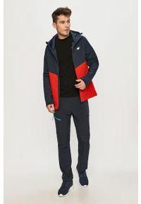 Czerwona kurtka 4f casualowa, gładkie