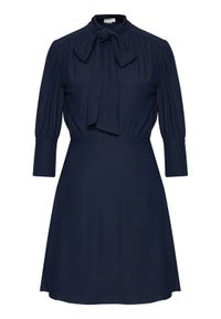 Niebieska sukienka Victoria Victoria Beckham koszulowa