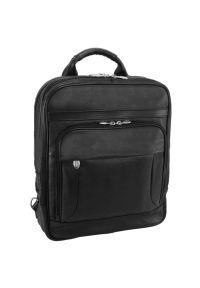 Plecak na laptopa MCKLEIN Wicker Park 15.6 cali Czarny. Kolor: czarny. Materiał: skóra. Styl: biznesowy, elegancki #6